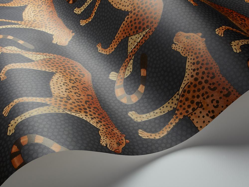 Neon Animal Print Wallpaper Leopard Walk Cole Amp Son Lampshade In Jet Black Love Frankie