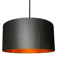 Gunmetal Lampshade With Brushed Copper Lining | Love Frankie