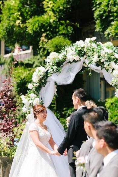 Wedding ceremony in Stanley Park Pavilion