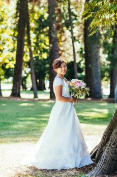 Bridal portrait shot in Vancouver, BC, Canada