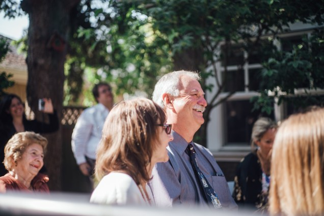 simple backyard wedding vancouver smile laugh