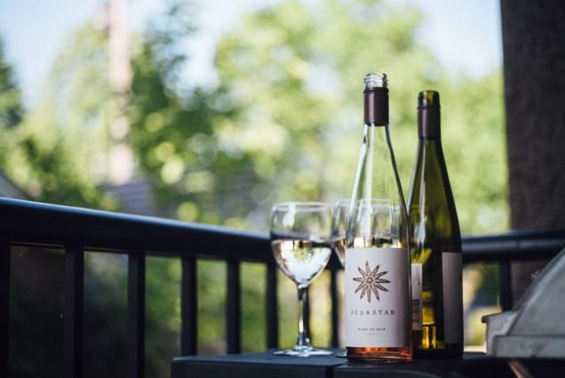 simple backyard wedding vancouver wine alcohol sea star