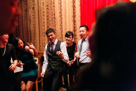 Dancing and enjoying the wedding banquet