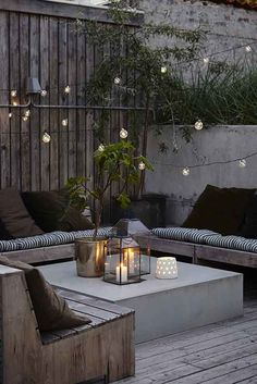 Built in outdoor seating