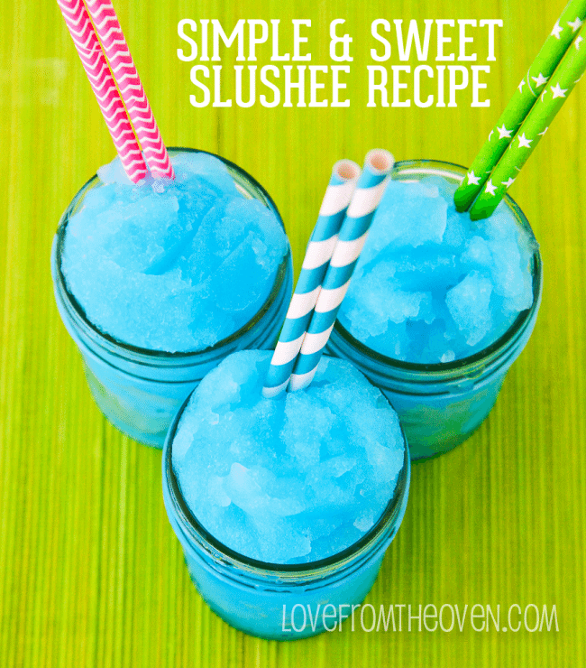 Easy Homemade Slushee Recipe  Love From The Oven