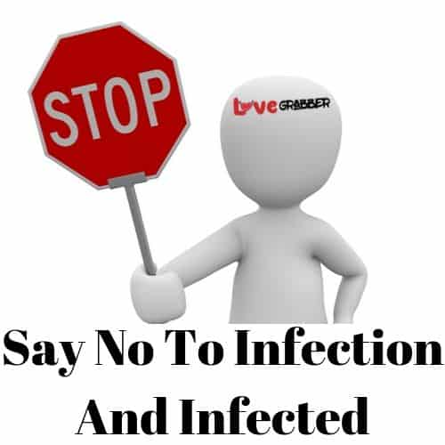 Say no to infected person and infection
