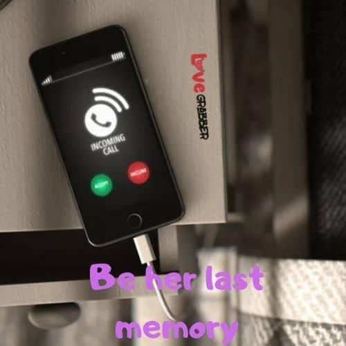 Be her last memory
