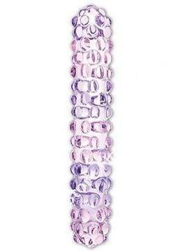 Glas Purple Rose Nubby Glass Dildo
