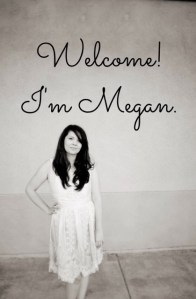 """A woman smiles as she stands with """"Welcome! I'm Megan."""" above her. She offers sexual trauma therapy, online anxiety therapy, and other services."""