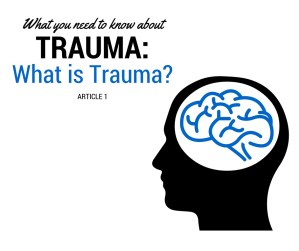 """A silhouette of a person's head with a brain graphic & the text """"what you need to know about trauma: what is trauma? article 1."""" We offer sexual abuse therapy in Sacramento, CA. Contact a therapist for sexual trauma to learn more about how sexual trauma therapy in Sacramento, CA can help you!"""