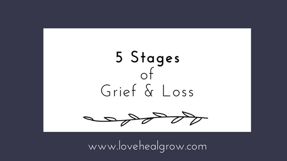 5 Stages of Grief and Loss