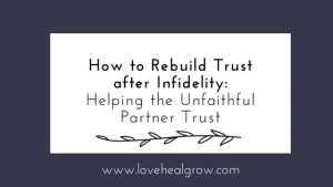 After Affair Trust Building