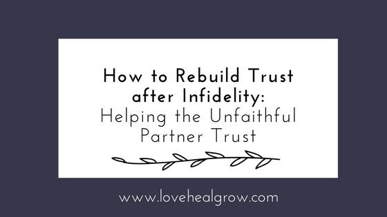 After Affair Trust Building