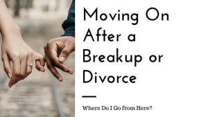 """A couple hold pinkies with the text """"moving on after a breakup of divorce. Where do i go from here?"""" We offer couples therapy and marriage counseling in California. Contact an online therapist in California for support today!"""