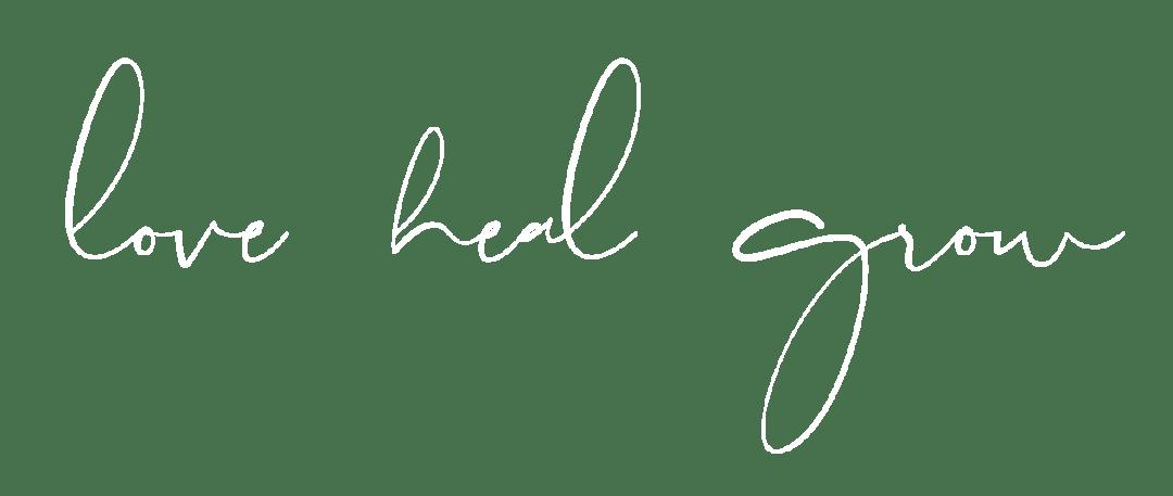 love heal grow counseling sacramento logo white