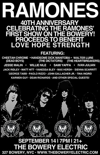 Ramones 40th Anniversary show in New York City