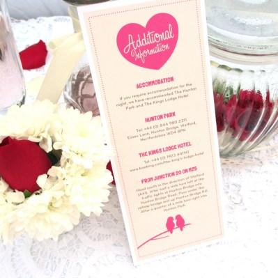Wedding Additional Information lovebirds by Love Invited