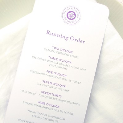 Wedding Order of Service destination by Love Invited