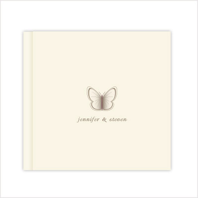 Wedding photo album beautiful butterfly by Love Invited