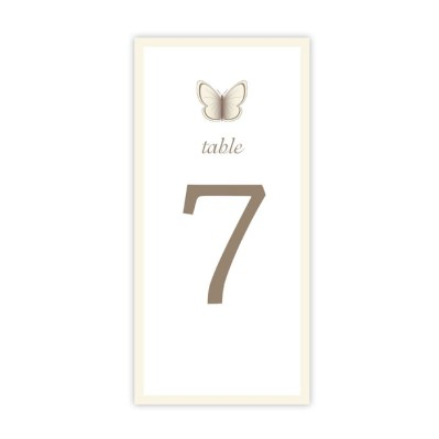 Wedding Table Number Beautiful Butterfly by Love Invited