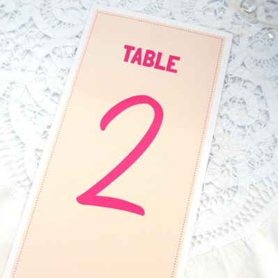 Wedding Table Number lovebirds by Love Invited
