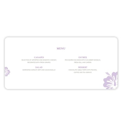 Wedding Invitation Menu destination by Love Invited