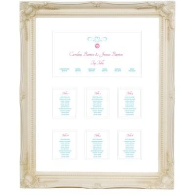 Wedding table plan sweet heart