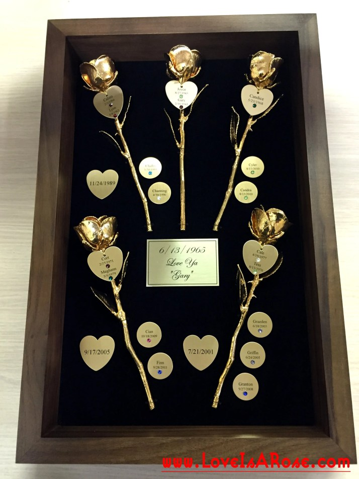 Gold Roses for Custom 50th Anniversary Gifts  Love Is A