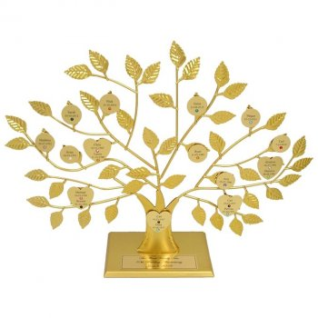 gold personalized family tree