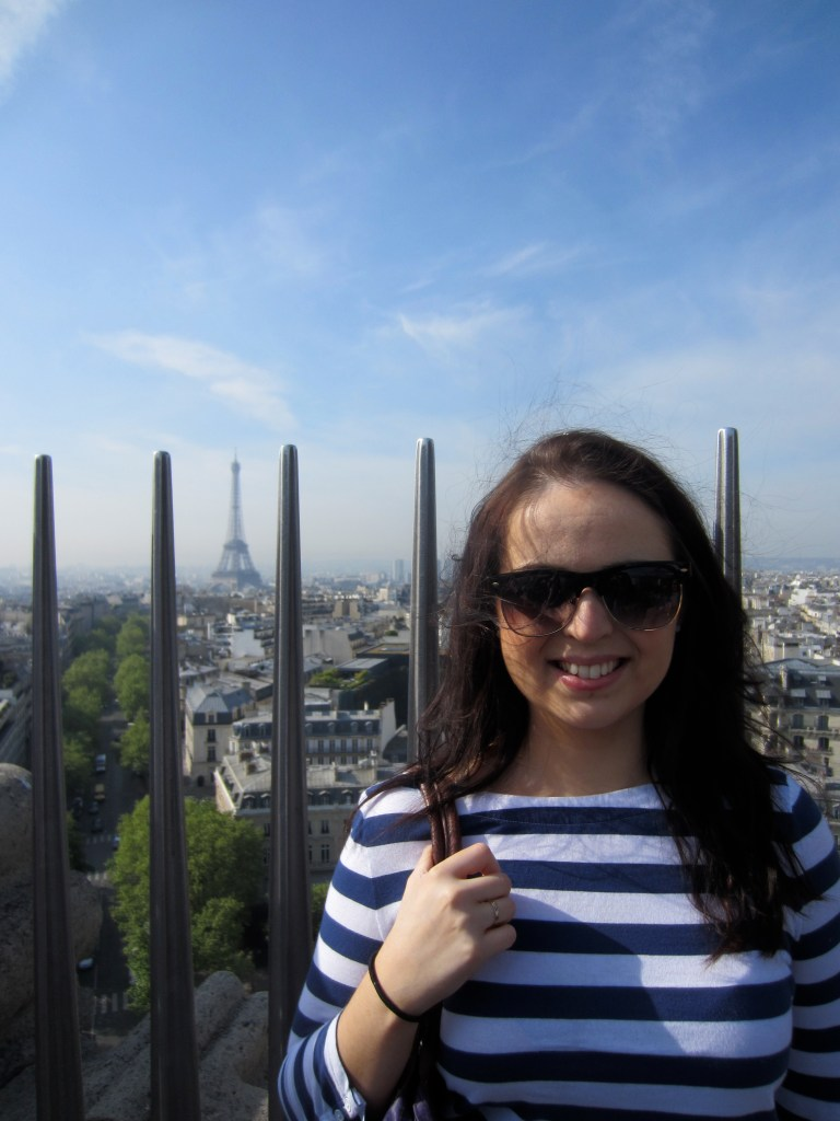 At the top of the Arc de Triomphe