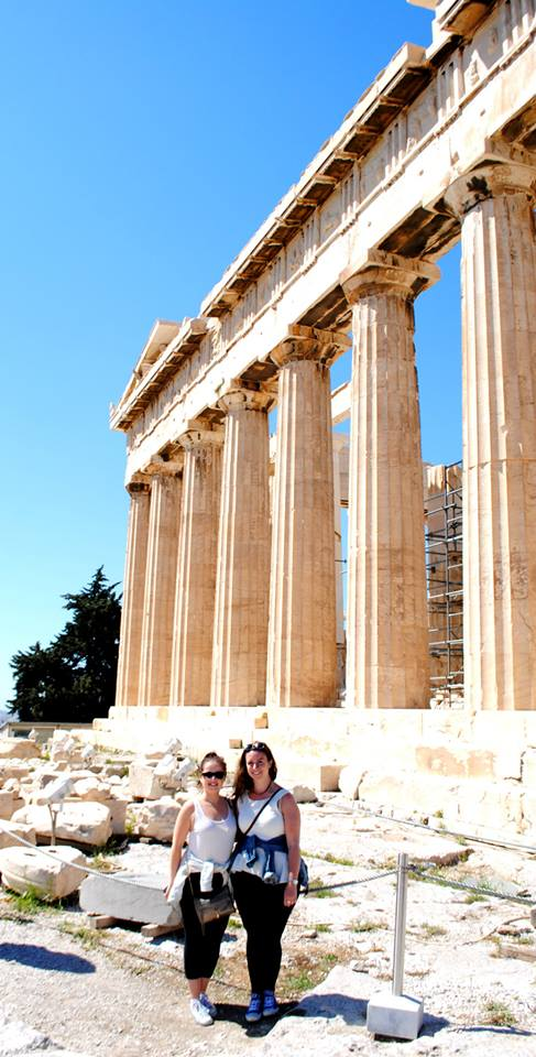 Parthenon Jacinda and me