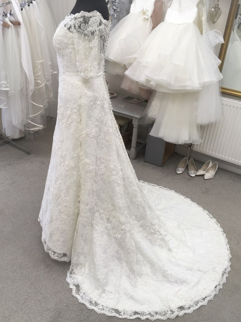 Side view of Alfred Angelo wedding dress