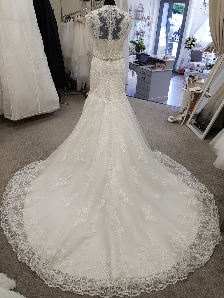 Justin Alexander fit and flare gown