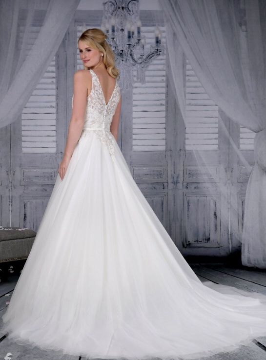 Signature Bridal Tiana wedding dress back view