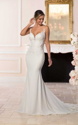 lace and crepe stella york wedding dress