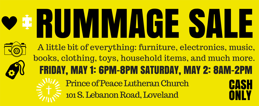Rummage Sale at Prince of Peace Church May 1 and 2 | Loveland Magazine