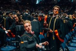 Cam Louder watches his peers begin to leave