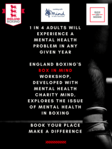 boxing and mental health - box in mind flyer