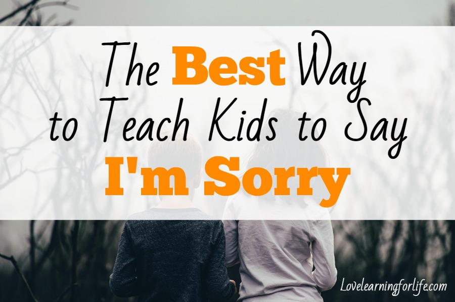 The Best Way to Teach Kids to Say I'm Sorry