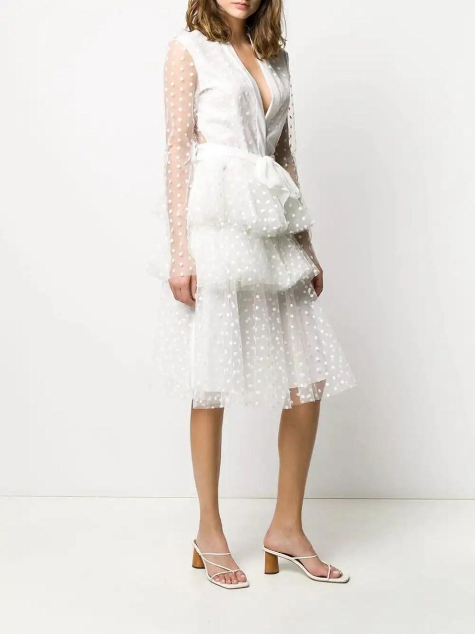 Philosophy Di Lorenzo Serafini | Tulle Polka Dot Layered Dress