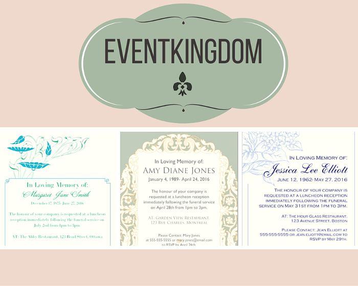 Funeral Reception Invitation Event Kingdom