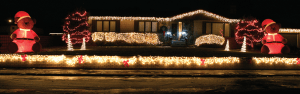 The home owned by Jeff and Shannon McCollam at 854 Shoshone Avenue in Lovell was voted second by a panel of chamber members in the Lovell Area Chamber of Commerce holiday decorating contest