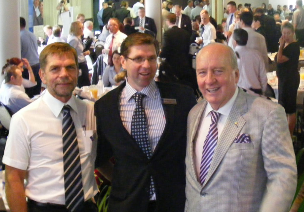 Toowoomba Grammar 'Old Boys', Graham Turner, Chamber of Commerce President, Geoff McDonald and Alan Jones