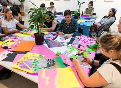 Attendees at a Spencer Harrison workshop