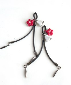 bell nipple Clamps, flower nipple jewelry, adult sex toys, love lorn lingerie