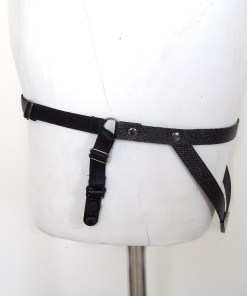 leather garter band, sexy gothic lingerie, fetish burlesque fashion, love lorn lingerie