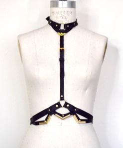 leather harness body belt, lovelornlingerie