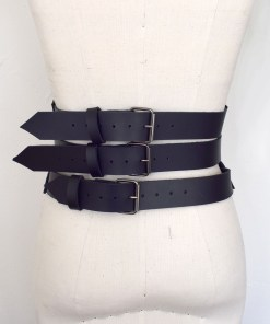 leather harness corset, love lorn lingerie