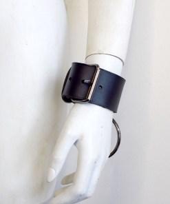 wide leather cuffs, love lorn lingerie