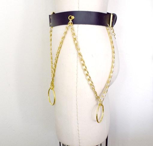 chain leather belt, love lorn lingerie